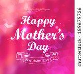 illustration of happy mothers... | Shutterstock .eps vector #189679736
