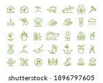 set of icons. growing seedlings ... | Shutterstock .eps vector #1896797605