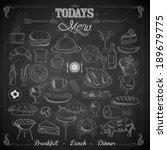 illustration of different food...   Shutterstock .eps vector #189679775