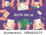 creative kids lab  top view ... | Shutterstock .eps vector #1896810175