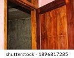 Image Of Open Wooden Door