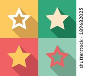 Set Of Star Icons In Colorful...