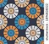 ethnic seamless pattern of... | Shutterstock .eps vector #1896828022