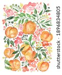 watercolor pattern with a... | Shutterstock . vector #1896834805
