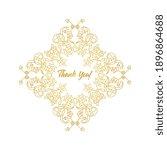 vector decorative frame....   Shutterstock .eps vector #1896864688