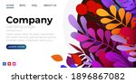 landing page template with...