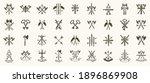 weapon logos big vector set ...   Shutterstock .eps vector #1896869908