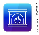 fireplace vector icon. winter...