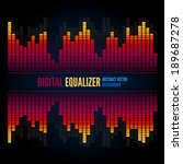 techno equalizer  abstract... | Shutterstock .eps vector #189687278