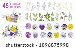 Vintage Pansy Flowers And...