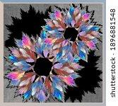 Colorful Floral Fractal Scarf...