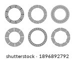 circle frame with seamless... | Shutterstock .eps vector #1896892792