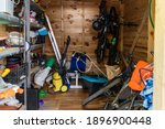 Suburban Home Wooden Storage...