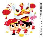 a cartoon vector illustration... | Shutterstock .eps vector #1896901828
