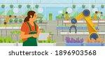 woman farmer holding tablet...   Shutterstock .eps vector #1896903568