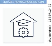 study at home line icon.... | Shutterstock .eps vector #1896912472