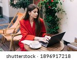 Focused Young Businesswoman In...