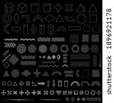 geometric shapes set of 110... | Shutterstock .eps vector #1896921178