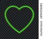 neon green heart  vector...   Shutterstock .eps vector #1896936082