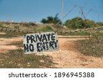 No Entrance  An Old Handwritten ...