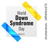 world down syndrome day. poster ...   Shutterstock .eps vector #1896961672