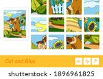 puzzle game for young children...   Shutterstock .eps vector #1896961825