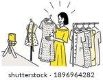 vector character of pretty... | Shutterstock .eps vector #1896964282