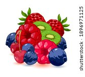 ripe and juicy collection of... | Shutterstock .eps vector #1896971125