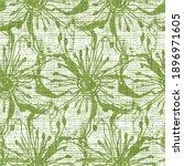 watercolor green flower motif... | Shutterstock . vector #1896971605