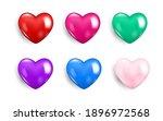 realistic valentine heart icon... | Shutterstock .eps vector #1896972568