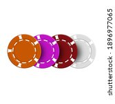 various casino chips  isolated... | Shutterstock .eps vector #1896977065