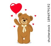 funny character teddy holding... | Shutterstock .eps vector #1896979192