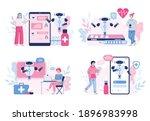 medical chatbot  robot doctor... | Shutterstock .eps vector #1896983998