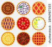 pies top view. baking food ... | Shutterstock .eps vector #1896987355