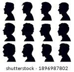 male profile face silhouette.... | Shutterstock .eps vector #1896987802