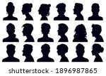 head silhouettes. female and... | Shutterstock .eps vector #1896987865