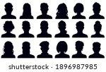avatar portrait silhouettes.... | Shutterstock .eps vector #1896987985