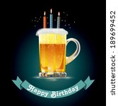 happy birthday card for person... | Shutterstock .eps vector #189699452