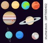 solar system planets. vector...   Shutterstock .eps vector #1897000402