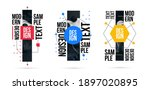 geometric minimalistic abstract ... | Shutterstock .eps vector #1897020895