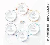 basic circle infographic...   Shutterstock .eps vector #1897032358