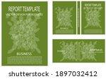 elegant template of green... | Shutterstock .eps vector #1897032412