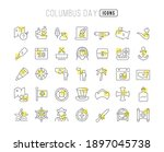 columbus day. collection of... | Shutterstock .eps vector #1897045738