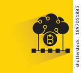 bitcoin and cloud with drop... | Shutterstock .eps vector #1897051885