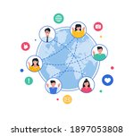 connected world concept. online ... | Shutterstock .eps vector #1897053808