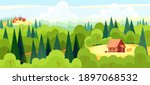 medieval fairy tale magical...   Shutterstock .eps vector #1897068532