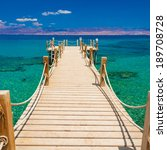 beautiful red sea coast on hot... | Shutterstock . vector #189708728