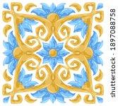 ceramic tile pattern with...   Shutterstock .eps vector #1897088758