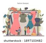 fashion designer or tailor... | Shutterstock .eps vector #1897103482