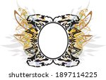 decorative colorful floral... | Shutterstock .eps vector #1897114225